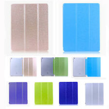 Ultra Thin Clear Silk Synthetic Stand Leather Cover Case for Apple iPad Air 5Gen