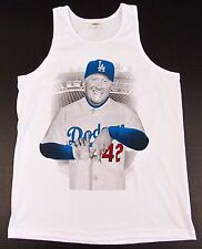 LA Dodgers Vin Scully Tank Top T-shirt Los Angeles Tee Adult M-2XL White New