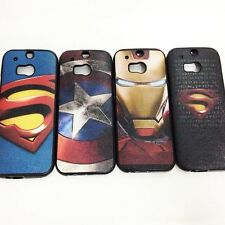 New Cartoon Super Hero Soft TPU Cover Case For HTC One M8
