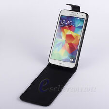 Black Classic Book Open Magnetic Flip Leather Pouch Hard Skin Protect Case Cover