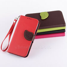 Leaf For Samsung Galaxy S5 SV i9600 Flip Leather Handbag Wallet Skin Case Cover