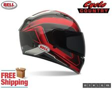 BELL QUALIFIER MOTORCYCLE HELMET CAM BLACK RED DOT APPROVED FREE SHIPPING NEW