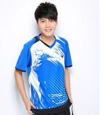2014 New Victor Badminton shirt men's  Badminton Tennis T-shirt 1073 Free
