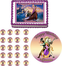 TANGLED RAPUNZEL Edible Cake Topper Cupcake Image Decoration Birthday Party