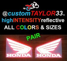 PAIR customTAYLOR33 High Intensity Reflective HONDA WING Decals Stickers CBR 2x