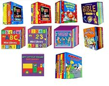 Childrens/Kids Mini Library Set - 6 Book Classic Collection Board Books