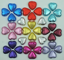 LUXURY BELGIAN CHOCOLATE FOIL LOVE HEARTS - WEDDING FAVOURS - TABLE SCATTERS -
