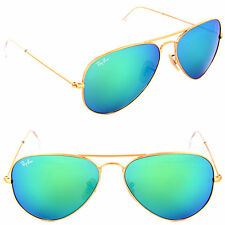 Ray-Ban RB 3025 112/19 Metal Aviator Gold / Green Mirror Sunglasses 55 or 58mm