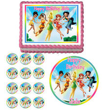 DISNEY FAIRIES Edible Cake Topper Cupcake Image Decoration Birthday Party