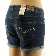 Levis Jean Midi Shorts Juniors Marion Blue Denim