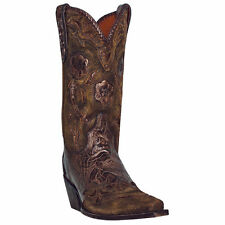 """Dan Post Women's Penny 11"""" Bronze Floral Western Cowboy Cowgirl Boots DP3626"""