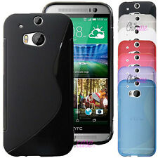 COQUE CASE ★ S-LINE SILICONE GEL ★ HTC ONE M8 ★ 7 COULEURS ★