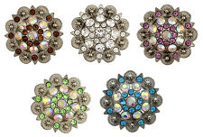 Western Montana Rhinestone Berry Chrystal Craft Conchos wholesale lots CH128