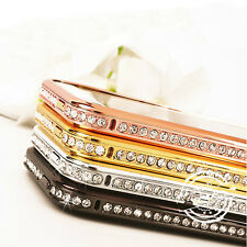 CRYSTAL RHINESTONE DIAMOND BLING METAL BUMPER CASE COVER FOR IPHONE 4G 4S 5G 5S