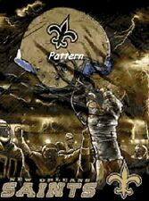 New Orleans Saints Helmets etc. Cross Stitch Patterns. Paper version or PDF