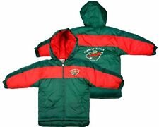 Minnesota Wild NHL Hockey Toddlers Hooded Coat Jacket, Green and Red
