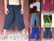 Thai Fisherman 3/4 Length Yoga Capoeira Kung Fu Tai Chi Boho Pants