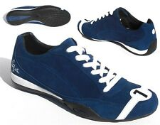 42% OFF MSRP! STIRLING MOSS Blue Suede Casual Driving Shoes by Nicolas Hunziker