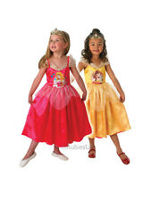 Child Disney Princess Aurora To Belle Reversible Outfit Fancy Dress Costume Kids