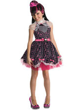 Child Monster High Draculaura Outfit Fancy Dress Costume Wig Halloween Kids