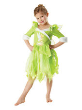 Child Girls Licensed Disney Winter Wonderland Tinkerbell Fancy Dress Costume BN
