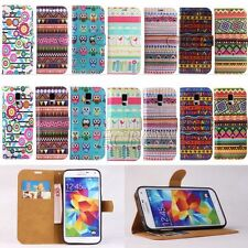 Colourful Aztec Tribal Style Flip Leather Wallet Case for Samsung Galaxy S5 G900