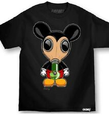 MAFIOSO CLOTHING EMEMY OF THE STATE MICKEY MOUSE GAS MASK T SHIRT BONG WEED POT