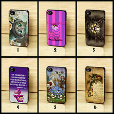 Disney Alice in Wonderland Cheshire Cat Quote Vintage Case for iPhone 4 5 6