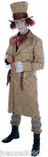 MAD HATTER VICTORIAN EDWARDIAN DICKENSIAN TOFF FANCY DRESS COSTUME OUTFIT & HAT