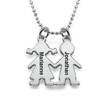 Kids Holding Hands Engraved Necklace for Moms - Customize it!