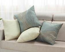 "Cushion Covers Pillows Shells Two-Tone Zebra Wave Teal Taupe Ecru 18"" X 18"""