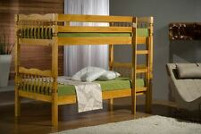 Happy Beds Weston Traditional Styled Bunk Bed Antique Pine Furniture 2x Mattress