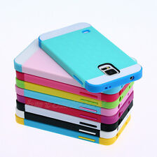 Hybrid Best Impact Dual Layer Bumper Hard Case Cover For Samsung Galaxy S5 i9600