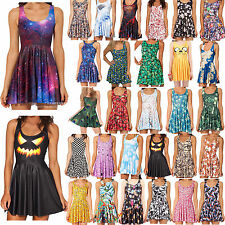 Girl Digital Print Pleated Adventure Time Bro Ball Reversible Skater Skirt Dress