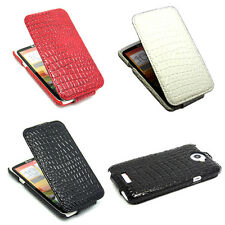 3Color Deluxe Crocodile Leather Skin Flip Case Cover For HTC ONE X Free Shipping