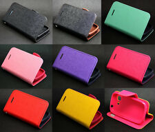 Deluxe Wallet Leather Flip + Tpu Case Cover For Samsung Galaxy Pocket Neo S5310