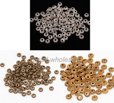 100pcs Wholesale Hot sale Retro Mini Alloy Wheel Gear Spacer Beads For Jewelry