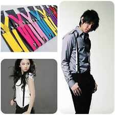 New Fashion Unisex Adjustable Clip-on Braces Elastic Y-back Suspenders
