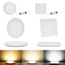Bombilla de techo 9W 12W 15W 18W 21W Brillante Panel Light CREE LED Empotrable