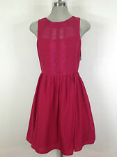 Jessica Simpson NWT Fuchsia Red Dress , Lace front design and flare skirt