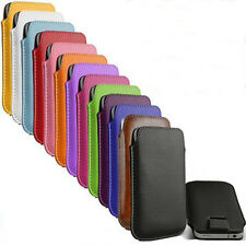 For Samsung Galaxy S5 i9600 Sleeve Pouch Case Cover PULL TAB PU Leather