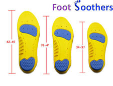 Dual Pro Sole Memory Orthotic Arch Support Insoles Shock Absorption Metatarsal