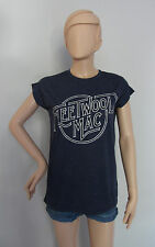 Official Blue FLEETWOOD MAC Band Logo T Shirt from Primark FREE UK SHIPPING