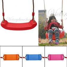 Garden Tree Outdoor Childrens Swing Seat Molded Child Kid Toddler Rope Gift Game
