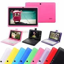 "16GB 7"" Tablet PC Android 4.4.2 A33 Quad Core Camera WiFi with Keyboard For Kids"