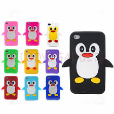 Apple iPod Touch 4 4th Gen Generation  Silicone Skin Case Cover Cute Penguin