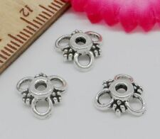 100/600Pcs Tibetan Silver Flower Beads Caps 10x3mm Free Shipping