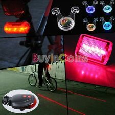 5 LED Red Laser Cycling Bicycle Bike Rear Tail Light Taillight Seat Lamp BAAU