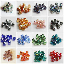 100pcs 8mm Faceted Square Cube Cut Glass Crystal Finding Loose Spacer Beads