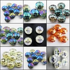 Wholesale 14mm 10/30/50pcs Faceted Round Glass Crystal Loose Spacer Beads
